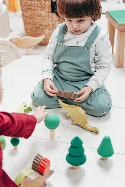 Drewniane figurki zwięrząt. Zabawka dla 3latka