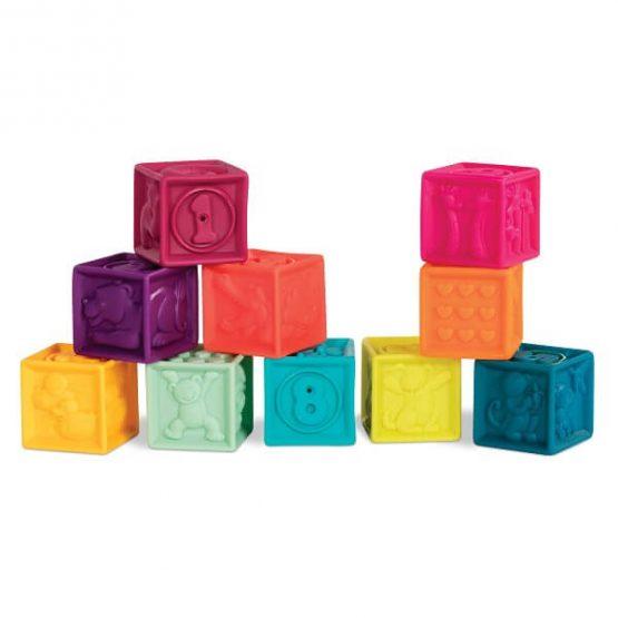 pierwsze miękkie klocki B.Toys