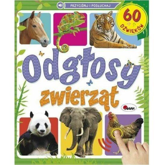 Interaktywna książeczka z dźwiękami- Odgłosy zwierząt, 60 dźwięków (AWM)